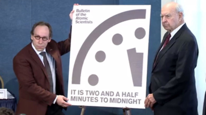 The Doomsday Clock Is Reset: Closest To Midnight Since The1950s